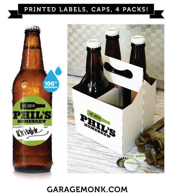 Custom personalized beer labels